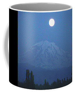 Mt Rainier Full Moon Coffee Mug