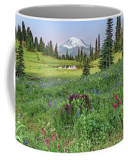 Mt Rainier Meadow Flowers Coffee Mug