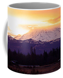 Mt. Rainier On Fire Coffee Mug