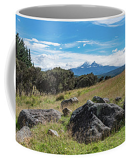 Coffee Mug featuring the photograph Mt Ruapehu View by Gary Eason