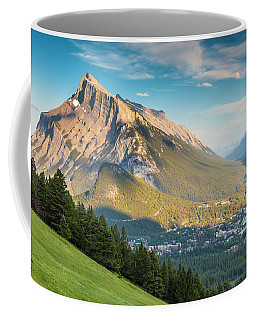 Coffee Mug featuring the photograph Mt. Rundle by Mark Mille