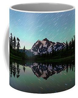 Mt Shuksan And Star Trails Coffee Mug