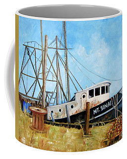 Mt. Sinai Fishing Boat Coffee Mug