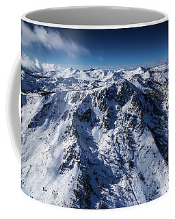 Mt Tallac Winter Aerial - Brad Scott Coffee Mug