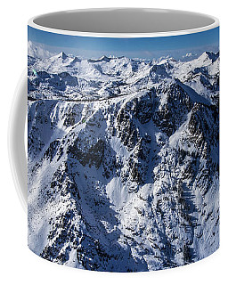 Mt Tallac Winter Aerial - Brad Scott Coffee Mug