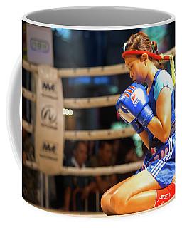 Muay Thai Female Alone Wai Khru Coffee Mug