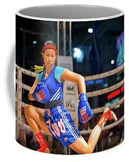 Muay Thai Warmup Wai Khru Knee Kicking Coffee Mug