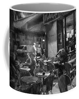 Mucha Cafe Coffee Mug by John Rivera