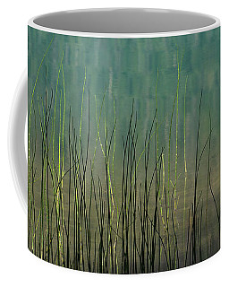 Coffee Mug featuring the photograph Mug - Lake Grass by Inge Riis McDonald