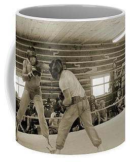 Muhammad Ali And Ernie Jones Spar Coffee Mug