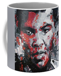 Coffee Mug featuring the painting Muhammad Ali II by Richard Day