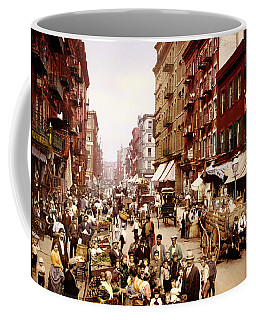 Mulberry Street In New York City - C1900 Coffee Mug