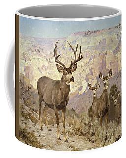 Mule Deer In The Badlands, Dawson County, Montana Coffee Mug