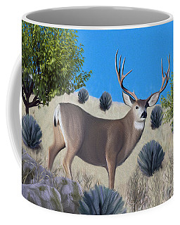 Mule Deer Trophy Buck Coffee Mug by Walter Colvin