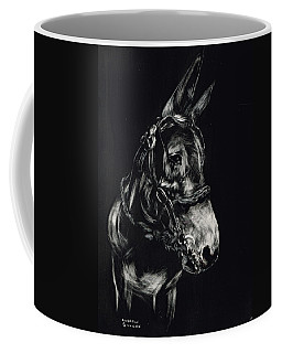 Mule Polly In Black And White Coffee Mug