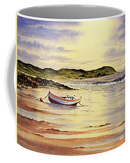 Coffee Mug featuring the painting Mull Of Kintyre Scotland by Bill Holkham