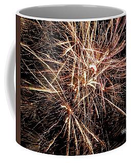 Coffee Mug featuring the photograph Multi Blast Fireworks #0721 by Barbara Tristan