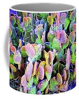 Multi-color Artistic Beaver Tail Cactus Coffee Mug by Linda Phelps