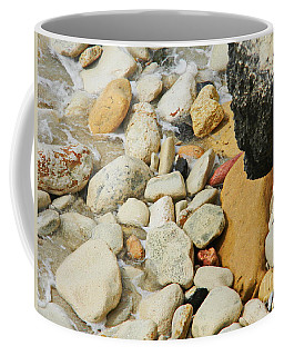 multi colored Beach rocks Coffee Mug by Expressionistart studio Priscilla Batzell
