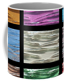 Coffee Mug featuring the digital art Multi Coloured Glass Tiles by Wendy Wilton