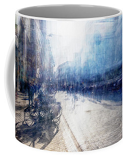 Coffee Mug featuring the photograph Multiple Exposure Of Shopping Street by Ariadna De Raadt