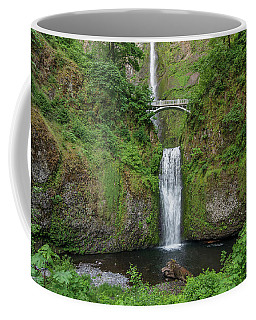 Coffee Mug featuring the photograph Multnomah Falls In Spring by Greg Nyquist