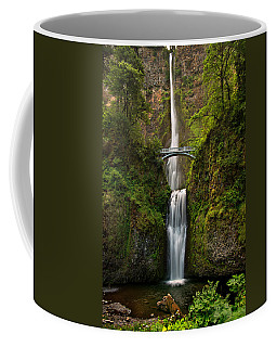 Coffee Mug featuring the photograph Multnomah Falls by Mary Jo Allen