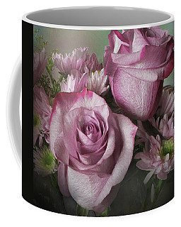 Mums And Roses Coffee Mug by David and Carol Kelly