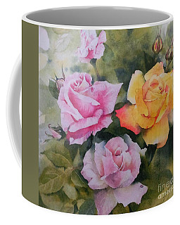 Coffee Mug featuring the painting Mum's Roses by Sandra Phryce-Jones