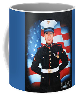 Coffee Mug featuring the painting Munoz by Mike Ivey
