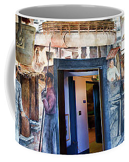 Mural Coit Tower Interior Panorama  Coffee Mug