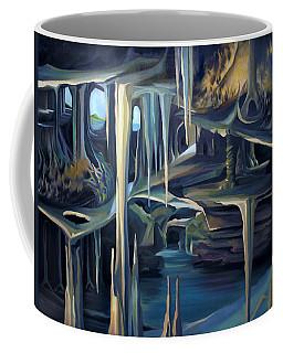 Mural Ice Monks In November Coffee Mug