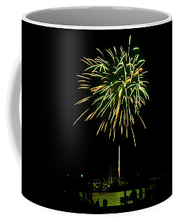 Coffee Mug featuring the photograph Murrells Inlet Fireworks by Bill Barber