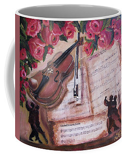Music And Roses Coffee Mug