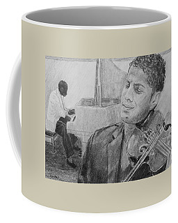 Coffee Mug featuring the drawing Music For The Soul by Quwatha Valentine
