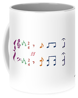 Coffee Mug featuring the digital art Music Notes 1 by David Bridburg