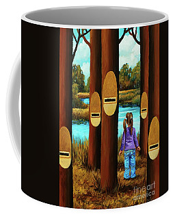 Coffee Mug featuring the painting Music Of Forest by Igor Postash