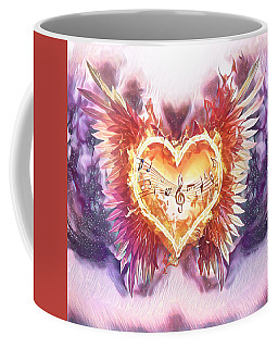 Coffee Mug featuring the digital art Music Of My Heart by Jennifer Page