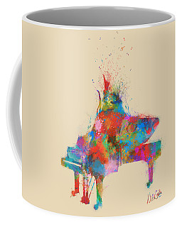Coffee Mug featuring the digital art Music Strikes Fire From The Heart by Nikki Marie Smith