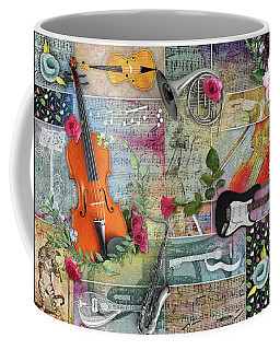 Musical Garden Collage Coffee Mug