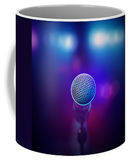 Musical Microphone On Stage Coffee Mug