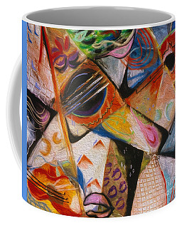 Coffee Mug featuring the pastel Musical Pastels by Donna Hall