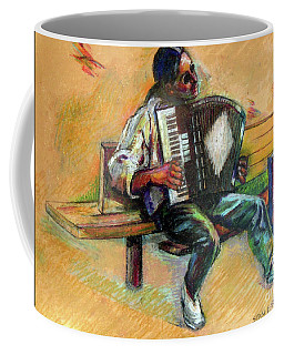 Musician With Accordion Coffee Mug by Stan Esson