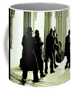Coffee Mug featuring the photograph Musicians In The Park by Sandy Moulder