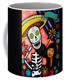 Coffee Mug featuring the painting Musikero Serenata by Pristine Cartera Turkus