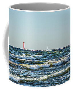 Coffee Mug featuring the photograph Muskegon South Breakwater Light by Sue Smith