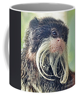 Mustache Monkey Watching His Friends At Play Coffee Mug