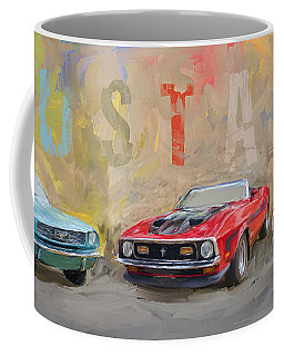 Mustang Panorama Painting Coffee Mug