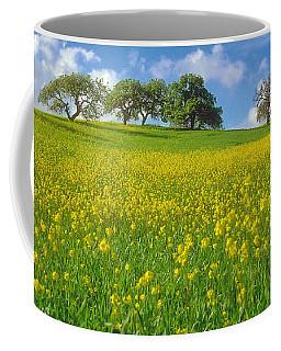 Coffee Mug featuring the photograph Mustard Field by Mark Greenberg