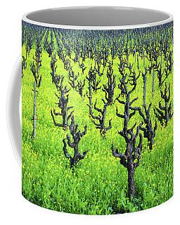 Mustard Flowers In The Vineyards Coffee Mug